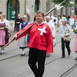 Stock Photo: Swiss National Day parade in Zurich