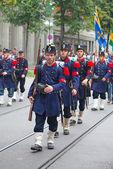 Swiss National Day parade in Zurich — Stockfoto