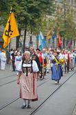 Desfile del día nacional suizo en zurich — Foto de Stock