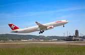 A-330 Swiss Air — Stock Photo