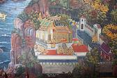 Tajski Malarstwo ścienne — Zdjęcie stockowe
