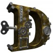 Steampunk letter d — Stock Photo