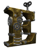 Steampunk letter e — Stock Photo