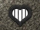 Heart prison window — Stock Photo