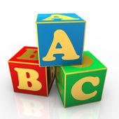 Abc 的多维数据集 — 图库照片