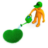 Gardener With Heart — Stock Photo
