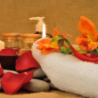 Object for the spa with candle — Stock Photo #10743850