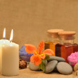 Object for the spa with candle — Stock Photo #10743867