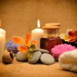 Object for the spa with candle — Stock Photo #10743868