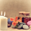 Object for the spa with candle — Stock Photo #10743870
