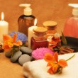 Object for the spa with candle — Stock Photo #10743872