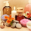 Object for the spa with candle — Foto de Stock