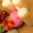 Object for the spa with candle — Stock Photo #10743877