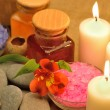 Object for the spa with candle — Stock Photo #10743881