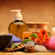 Object for the spa with candle — Stock Photo #10743884