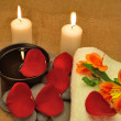 Object for the spa with candle — Stock Photo #10743888