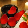 Object for the spa with candle — Stock Photo #10743890