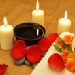 Object for the spa with candle - Stock Photo
