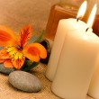 Object for the spa with candle — Stock Photo #10743901