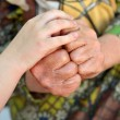 Old and child hands — Stock Photo #10743931