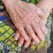 Hands of the old woman - 85 years age — Stock Photo