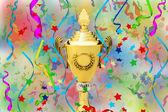 スポーツ ゴールド カップ — ストック写真