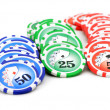 Gaming chips — Stock Photo