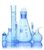 Chemické sklo zařízení — Stock fotografie