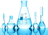 Chemical glass equipment — Stock Photo