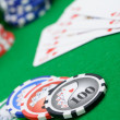 Winning combination in a poker Royal Flush — Stock Photo