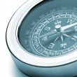 Stock Photo: Compass closeup blue toned