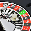 Roulette wheel in casino closeup - Zdjcie stockowe