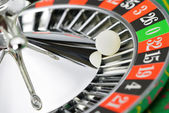 Roulette wheel in casino closeup — Stock Photo