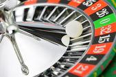 Roulette wheel in casino closeup — Stock Photo