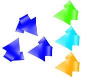 回收符号集 — 图库照片