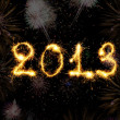2013 made of sparks — Stock Photo #12024021