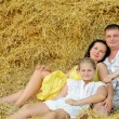 Stock Photo: A young family, father, mother and daughter