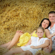 A young family, father, mother and daughter — Stock Photo