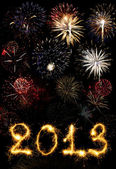 2013 made of sparks — Stock Photo