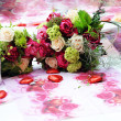 Beautiful arrangement of flowers — Stock Photo
