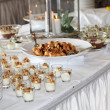 Dessert buffet at a catered event — Stock Photo