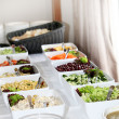 Salad buffet at a catered function — Stock Photo