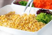 Fresh sweetcorn salad — Stock Photo