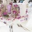 Stock Photo: Beautiful floral table centrepiece
