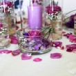Intricate flower arrangement centerpiece — Stock Photo