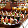 Selection of decorative desserts — Stock Photo