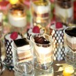 Luxury desserts reflected in a mirror — ストック写真
