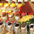 Rows of tasty looking desserts — Stok Fotoğraf #10927662