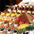 Catering at a luxury event - 图库照片
