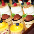 Rows of tasty looking desserts — Stok Fotoğraf #10927735